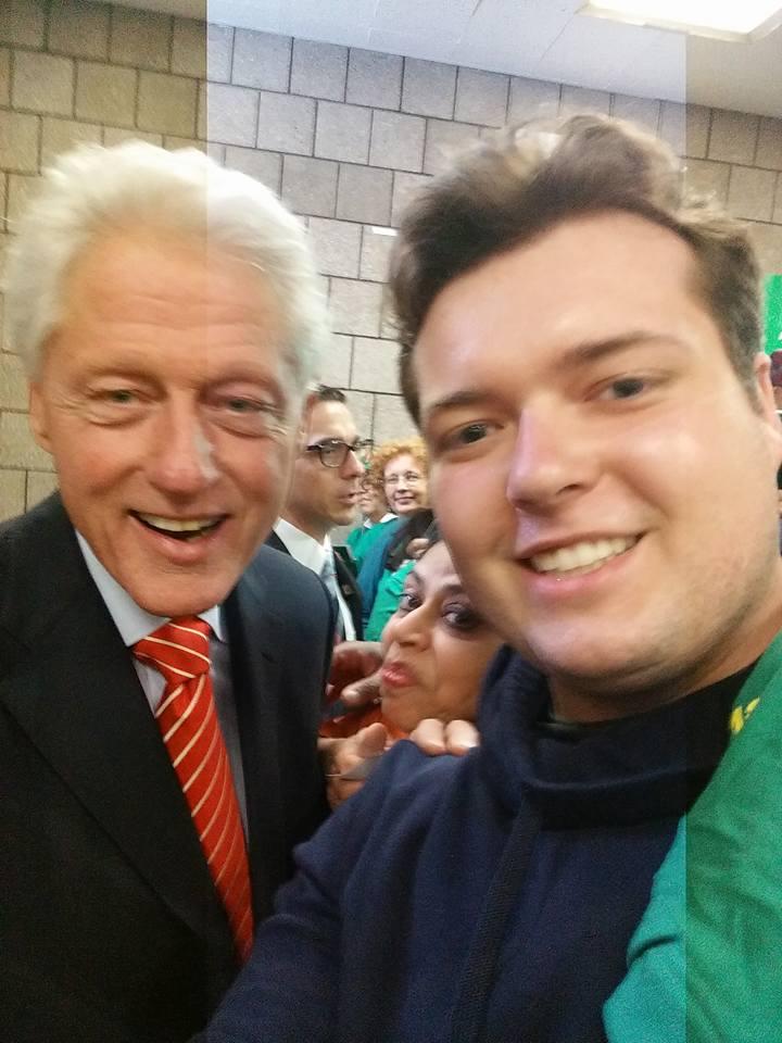 Timo met Bill Clinton