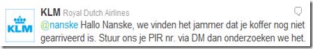 KLM twitter klantendienst