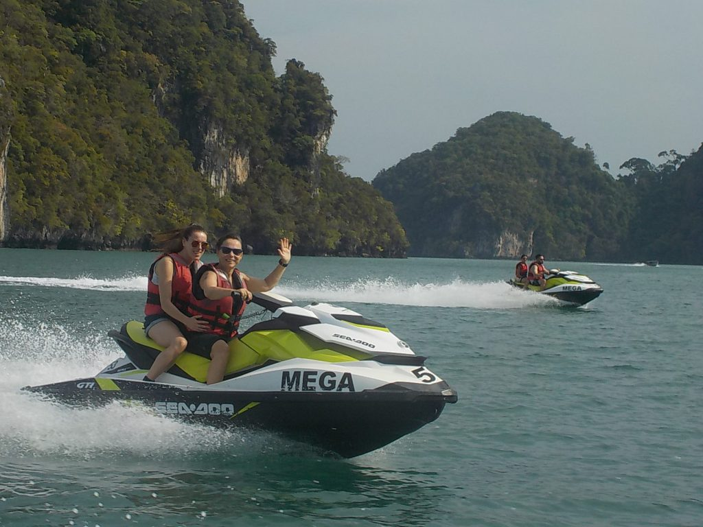 langkawi met de jetski megasports